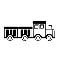 Train wagons kids toys vector