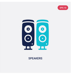 Two color speakers icon from electronic devices vector