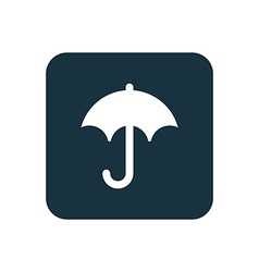 Umbrella icon Rounded squares button vector