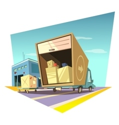 Warehouse cartoon vector