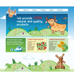 Web template for agricultural business vector