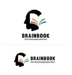 book brain identity multiple color book flipping vector image