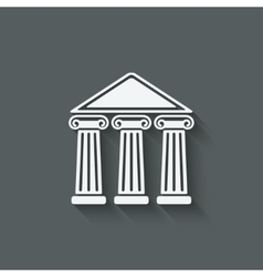 building with columns vector image