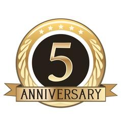 Five Year Anniversary Badge vector image