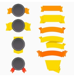 Flat badges banners templates set vector image