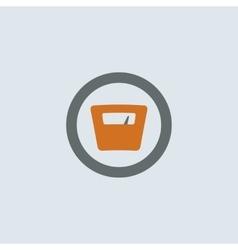 Gray-orange Scales Round Icon vector image vector image