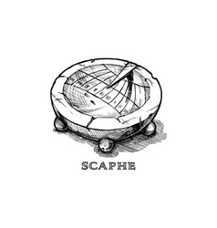 hand drawn of scaphe vector image