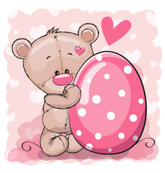 bear with egg vector image