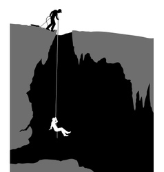 Cavers vector image