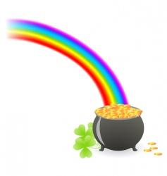 leprechaun treasure cauldron vector image vector image