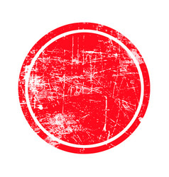 red circle grunge stamp with blank isolated vector image