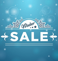 Signboard Winter Sale tree stars vector image vector image