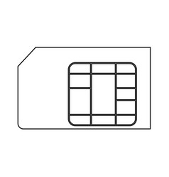 sim card the black color icon vector image