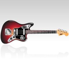 vintage electric guitar vector image