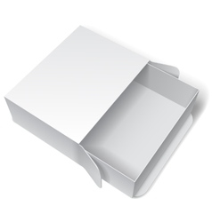 Blank White Package Box vector image vector image