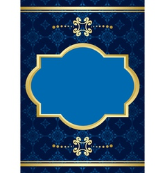 card with blue pattern vector image vector image