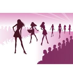 Fashion models represent new clothes vector image vector image