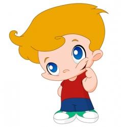 Little boy vector