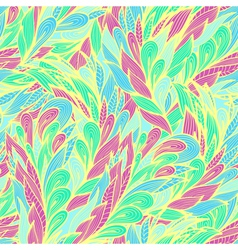 Seamless floral pattern with abstract feathers vector image vector image