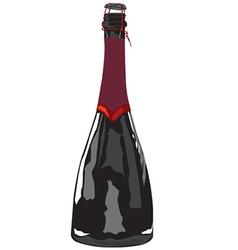 Sparkling wine vector image