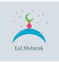 symbol of the Muslim Eid Mubarak vector image