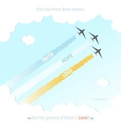 Christianity Bible Verse God Jesus Symbol Plane vector image