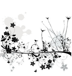 floral line vector image vector image