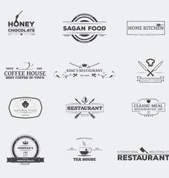 Food restaurant emblems vector image vector image