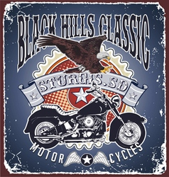 motorcycle black hills classic vector image