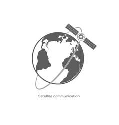 satellite communication icon vector image