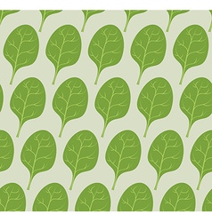 Spinach background seamless pattern from green vector image