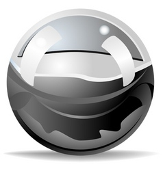 stainless ball vector image vector image