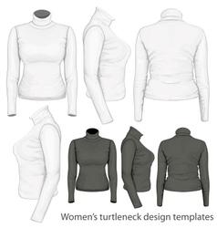 Womens turtleneck design templates vector image vector image