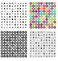 100 kitchen utensils icons set variant vector image
