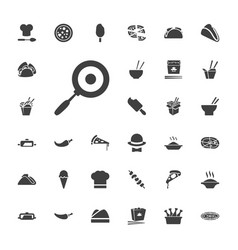 33 cuisine icons vector