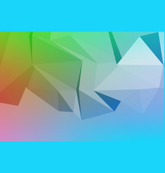 art of faceted 3d crystal colorful shapes vector image