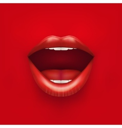 Background of Womans mouth with open lips vector