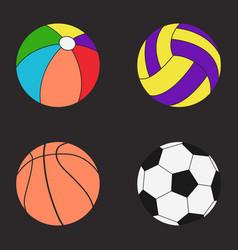 Balls set color vector