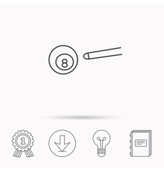 Billiard ball icon Cue sports sign vector image