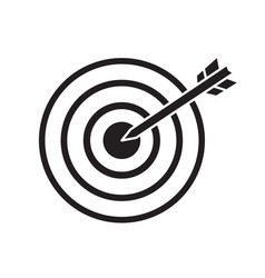 Black target with arrow dart aim in the center vector