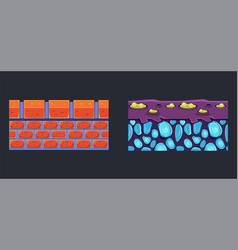 brick and alien land surface seamless ground vector image