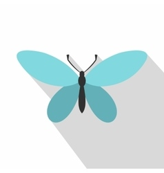 Butterfly with antennae icon flat style vector