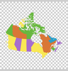 canada political map vector image