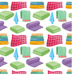 cartoon colorful towels seamless pattern vector image