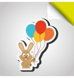 cute rabbit design vector image