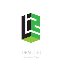 design element logotype or icon with letter l and vector image