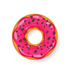 Donut begel with cream cookiescookie cake vector