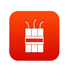 Dynamite explosives icon digital red vector