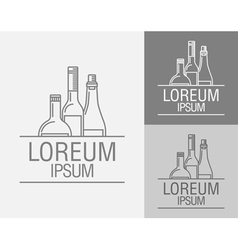 emblem in the drinks menu vector image