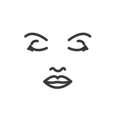 face woman icon vector image